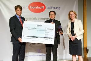 Tim Wessels erhält den mit 50.000 Euro dotierten Bonhoff-Preises