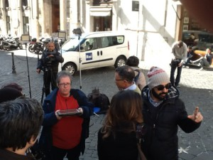 Fernsehsender berichten über die ACTA-Kampagne