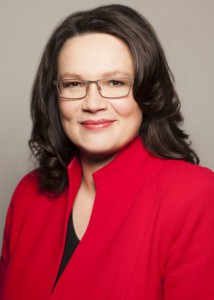 Bundesarbeitsministerin Andrea Nahles, Quelle: BMAS/Knoll