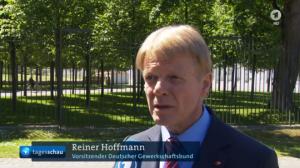 """DGB-Chef Hoffmann: """"... erleben wir gerade dass massenhaft neue sogenannte 'Soloselbstständigkeit' oder 'Scheinselbstständigkeit' entsteht"""" (Anklicken, um Video zu sehen)"""