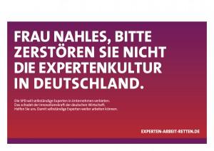 """Erläuterung: Andrea Nahles ist Bundesministerin fur Arbeit und Soziales und treibende Kraft hinter dem neuen """"Werkvertragsgesetz""""."""