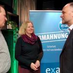 Gespräche mit Hamburger Mitgliedern, links: Marcus Mencke-Haan