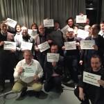 Wir nutzten die Gelegenheit in Hamburg ein Protest-Foto zu machen im Rahmen der Aktion experten-stillstand