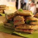 Auch in Berlin gab's leckere Sandwiches, besorgt von Elke Köpping und dank Raumsponsor exali.de