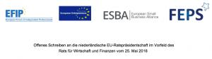 10 Millionen Selbstständige und 1 Million Kleinunternehmen sind in den vier europäische Dachverbänden organisiert, die den offenen Brief mitgezeichnet haben