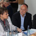 Dr. Marei Strack (DDIM) und Andreas Lutz (VGSD) an Tisch 2 (Foto: spdfraktion.de)