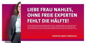 """""""Pledgecard"""", die an SPD-Bundestagsabgeordnete gesendet wurde"""