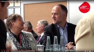 """Marei Strack und Andreas Lutz beim Dialogforum """"Neue Zeiten"""" der SPD (Screenshot)"""