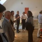 Andrea Nahles begrüßt Teilnehmer