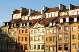 Häuserfassaden in der Warschauer Altstadt