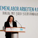 Arbeitsministerin Nahles eröffnet die Veranstaltung