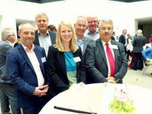 Gruppenbild mit Dame: Arbeitsgruppensprecherin Kristin Müller mit (von links) Karsten Rehfeldt, Dirk Hermanns, Jürgen von den Driesch, Heiko Heise und Thomas Anderson