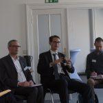 Markus Korinth, Jochen Clausnitzer (BDD), Joel Dullroy (Freelancers Europe)