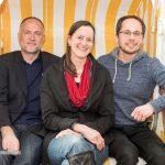 Der neue Vorstand mit  Andreas Lutz, Sylvie Denarié und Tim Wessels
