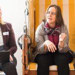 Heidrung Peschen organisiert in München Netzwerkabende und heißt neue Mitglieder willkommen