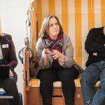 Heidrun Peschen organisiert in München die Netzwerkabende und heißt neue Mitglieder willkommen