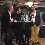 Eindruck von der Veranstaltung: V.l.n.r. Jan Fleischhauer, Nikil Mukerji und Gastgeber Stephan Meier