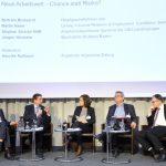 Gesprächsrunde v.l.n.r.: Bertram Brossardt, Stephan Stracke, Henrike Roßbach, Jürgen Wechsler, Martin Naser
