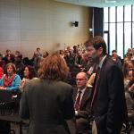 Vor der Veranstaltung: GVG-Geschäftsführer Dr. Sven-Frederik Balders im Gespräch
