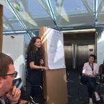 Teelke Meyer bei einer Barcamp-Session, Teelke ist Communitymanagerin beim Betahaus Hamburg