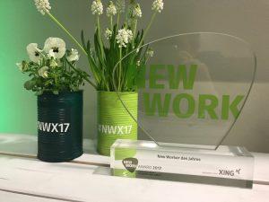 """Der """"New Work Award"""" des sozialen Netzwerks XING."""