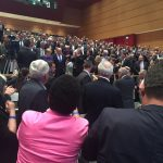 Angela Merkel beim Einzug ins Internationale Congresscentrum in München