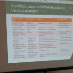 Fester Programmpunkt: Wir informieren uns gegenseitig über relevante Veranstaltungen, besprechen wer hin geht und berichten uns anschließend über die Ergebnisse, Foto: Jonas Kuckuk, BUH