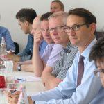 Silke Spahr, dann im Vordergrund: Max Hilgarth, Joachim Groth, Jochen Clausnitzer, Marcus Pohl, Foto: Jonas Kuckuk