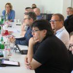 Ganz rechts: Trautmann; im Vordergrund v.l.n.r.: Jan-Peter Wahlmann, Mario Müller, Marcus Pohl, Thomas Greune, Foto: Jonas Kuckuk