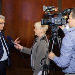 Bei der Veranstaltung wurden Interviews mit allen Diskussionsteilnehmern aufgezeichnet, die in ein Video einfließen sollen, Foto: Stefan Obermeier