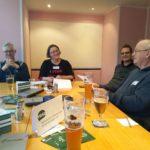 Gastgeberin Susi Freudenberg berichtete von den Aktivitäten des VGSD-Vorsitzenden zum Thema Altersvorsorgepflicht in Berlin; Foto: Thomas Rathe