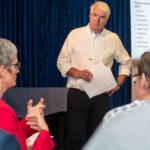 Stephan Kessler moderiert als Versammlungsleiter die MV, Foto: Thomas Dreier