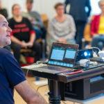 Andreas Lutz präsentiert, Foto: Thomas Dreier