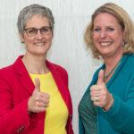 Die beiden neuen Frauen in Beirat und Vorstand: Alexandra Meister und Claudia Kimich, Foto: Thomas Dreier