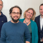 Der neue VGSD-Vorstand (v.l.r.): Andreas Lutz, Tim Wessels, Claudia Kimich, Max Hilgarth, Foto: Thomas Dreier