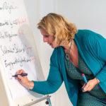 Claudia Kimich beim Sammeln von Themenvorschlägen für das Barcamp, Foto: Thomas Dreier