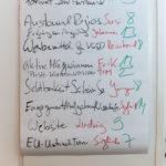 Liste der Sessions, Foto: Thomas Dreier