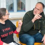 Susi Freudenberg und Andreas Lutz diskutieren in einer Session, Foto: Thomas Dreier