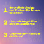 Banner #DurchDieKriseNurGemeinsam, Abbildung: Grünen-Bundestagsfraktion