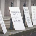 Gruppenmotiv unserer künstlerischen Protestaktion - Foto: Sascha Schwarz