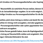 Dies sind weitere Hinweise für Antragsteller mit (zusätzlichen) Einkünften aus GbRs, UGs, GmbHs usw.