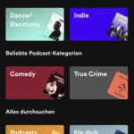 """In der Spotify-App einfach auf """"Suche"""" klicken ..."""